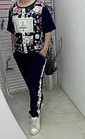 Стильный женский яркий костюм батал ХИТ