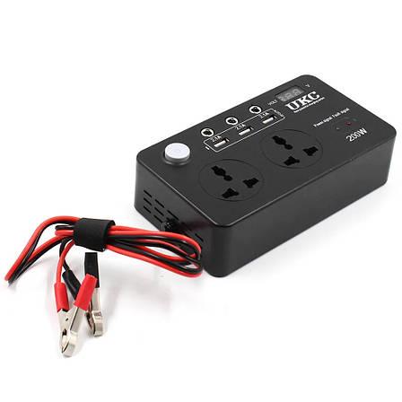 Преобразователь AC/DC 200W 12V LCD / USB + ПОДАРОК: Настенный Фонарик с регулятором BL-8772A, фото 2