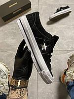 Женские Converse One Star Premium Suede Black ( AAA класс )