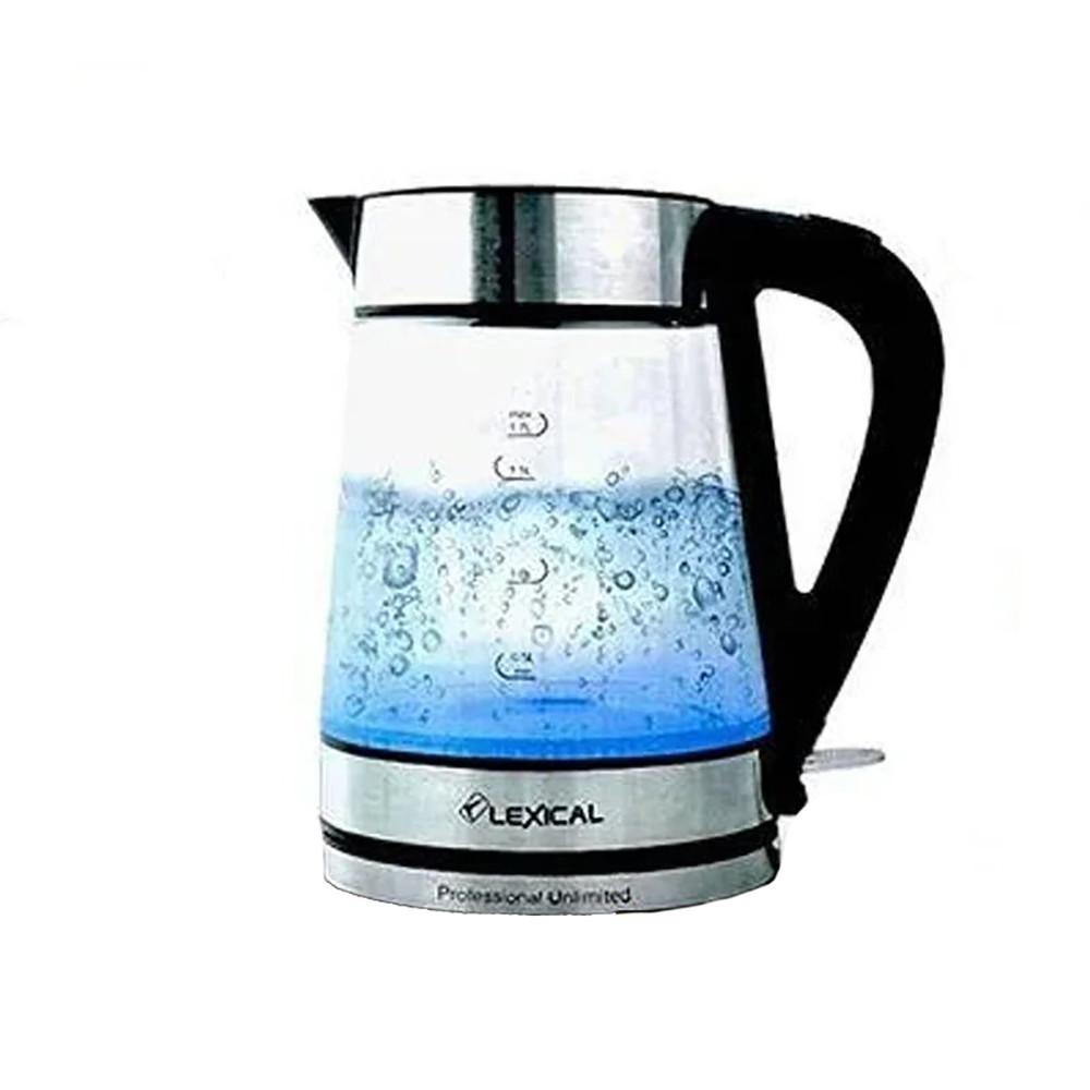 Стеклянный Электрический чайник Liberton LEK-1403 1,8л + ПОДАРОК: Настенный Фонарик с регулятором BL-8772A