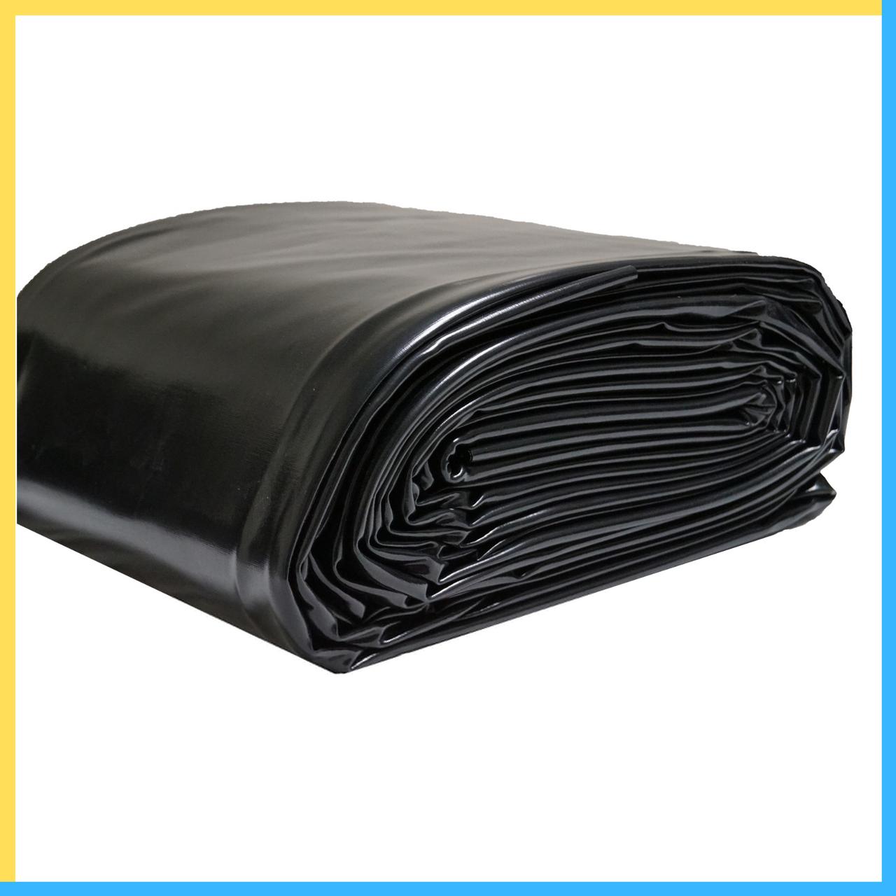 Чёрная плёнка на метраж 120 микрон (ширина 6 метров)
