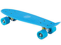 Скейтборд Пенни борд Kronos Toys Penny Board 180079 55 x 15 см Голубой матовые колеса (BIA180079b)