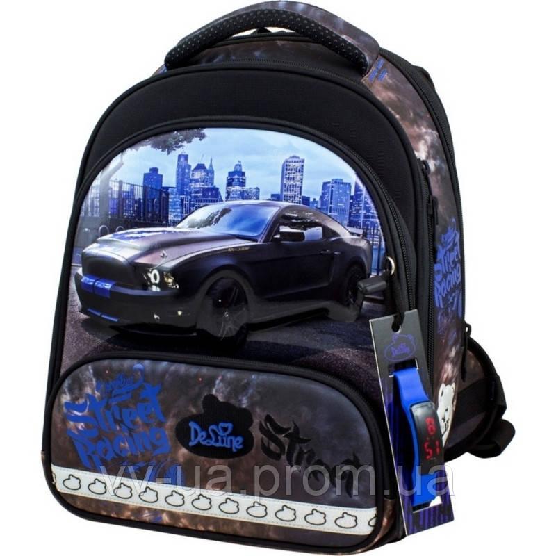 Рюкзак школьный каркасный Delune с наполнением, для мальчиков (Full-set 9-130)