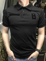Тактическая футболка поло CoolMax для Национальной Полиции Черная, фото 1