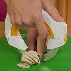 Круглый кухонный нож САМУРАЙ 360°, фото 3