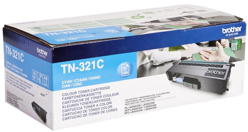 Тонер-картридж Brother TN-321 HL-L8250CDN Cyan 1500 страниц