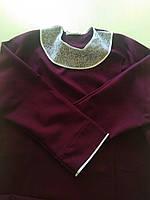 Платье ритуальное габардин с воротом