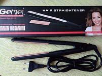 Праску-Випрямляч-Щипці для волосся Gemei GM 2955 з турмаліновим покриттям, фото 2