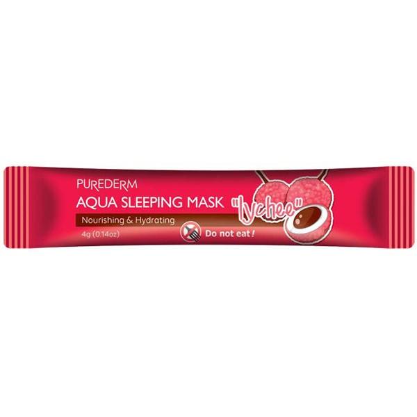 Питательная антивозрастная ночная маска для лица с экстрактом личи Aqua Sleeping Mask Lychee, 4g