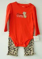 """Детский комплект 2в1 Carter's 12-18 месяцев (рост 72-83 см) """"Кошечка"""" девочке / комплект Картерс дівчинці"""