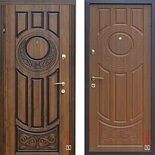 Дверь входная металлическая ABWEHR, 179 Luck, Vinorit, Дуб золотой Патина, 950x2050, левая