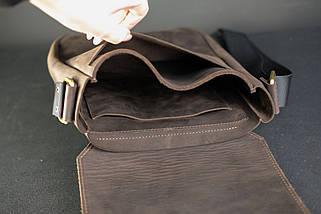 """Чоловіча сумка """"Модель №85"""" Вінтажна шкіра колір Шоколад, фото 3"""