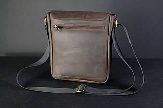 """Чоловіча сумка """"Модель №85"""" Вінтажна шкіра колір Шоколад, фото 2"""