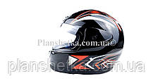 Шолом для мотоцикла Hel-Met 802 чорний, фото 2