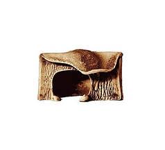 Грот для рептилій Природа кутовий маленький 14х16х13 см