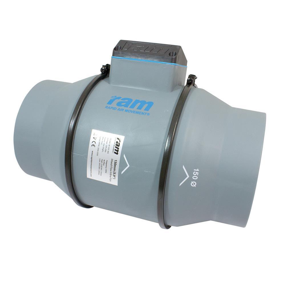 Вентилятор канальный RAM 2 скорости 150 мм