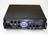Підсилювач звуку Sonixin AV-339BT + USB + Fm + Mp3 + КАРАОКЕ + Bluetooth, фото 2