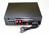 Підсилювач звуку Sonixin AV-339BT + USB + Fm + Mp3 + КАРАОКЕ + Bluetooth, фото 3