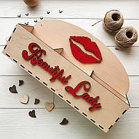 Настольный органайзер из дерева для косметики 7Arts Бежевый BOX-0035, КОД: 1474098