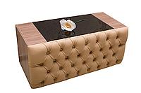 Журнальный / кофейный столик с каретной стяжкой и подсветкой ROYALLA от Mebelle