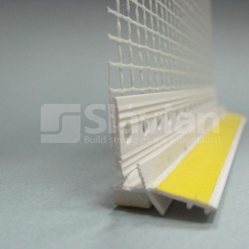 Профиль ПВХ приоконный, 6мм с сеткой 2,5м (белый)