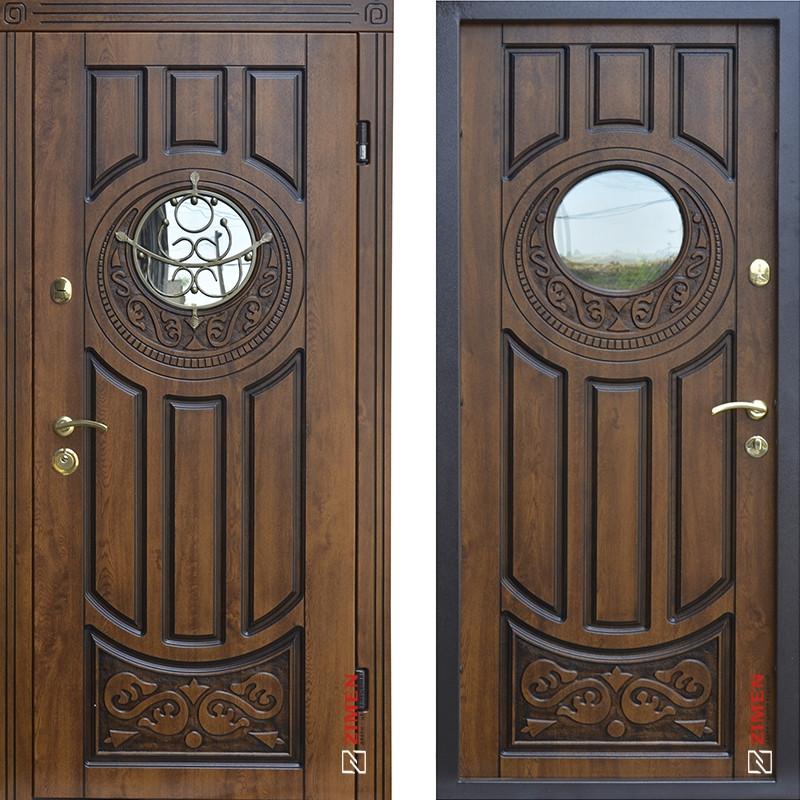 Дверь входная металлическая ABWEHR, 179 Luck Ковка, Vinorit, Дуб золотой Патина, 850x2050, левая