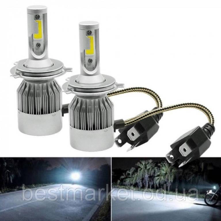 Комплект Автомобільних Світлодіодних Led Ламп C6 H4 Лампи для Автомобільних Фар