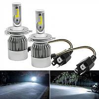 Комплект Автомобільних Світлодіодних Led Ламп C6 H4 Лампи для Автомобільних Фар, фото 1