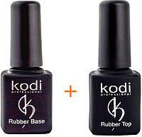 Rubber Base Kodi Professional 8 ml + Rubber Top Kodi Professional 8 ml \ База и топ Коди 8 мл