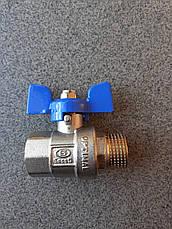 Кран шар 1/2 В\Н GROSS PN50 (бабочка), фото 3