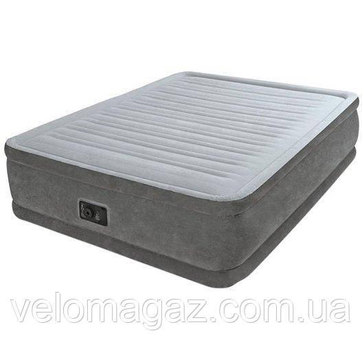 Надувная кровать двухспальная 203*152*56 см, с встроенным насосом Intex 64418