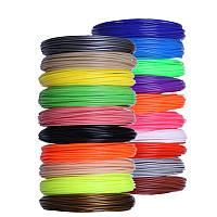Набор PLA-пластика для 3D ручки (12 цветов по 5 метров) 60 метров, не токсичный