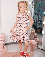Детское платье для девочки NSP леопард розовый 58-241