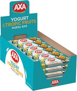 Зерновий батончик зі смаком йогурту та з тропічними фруктами 25г | 24шт АХА