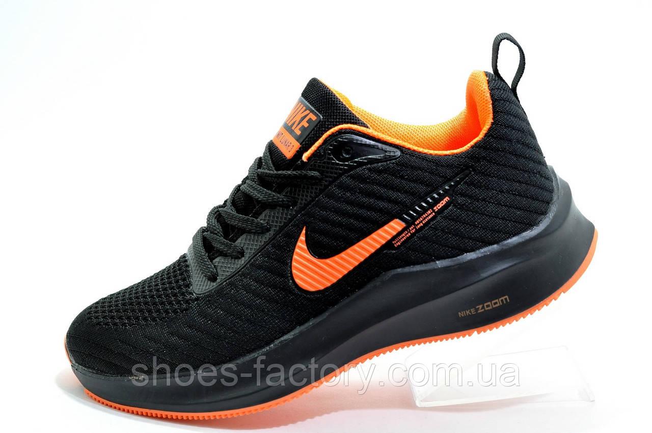 Кроссовки унисекс в стиле Nike Flyknit Lunar, Black\Orange