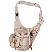 Наплечная сумка, пустынный камуфляж MFH