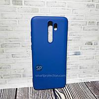 Силиконовый чехол для Xiaomi Redmi Note 8 Pro синий  Aspor