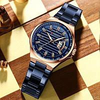 Часы мужские наручные Curren 8375 Blue-Cuprum Orignal