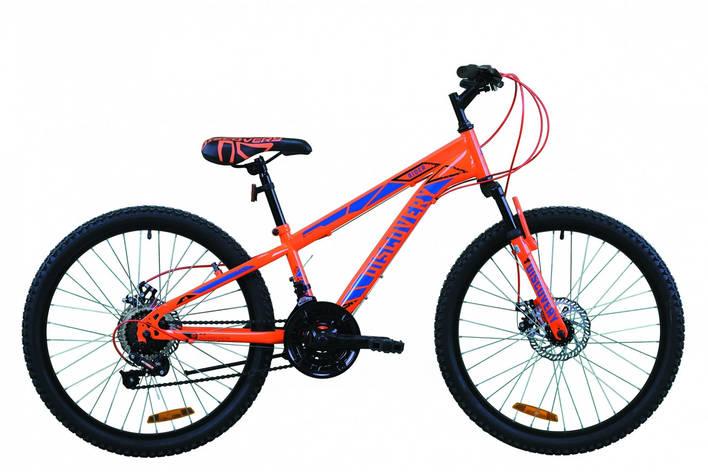 "Велосипед для подростка 24"" Discovery Rider AM DD 2020 оранжево-синий, 11.5"", фото 2"