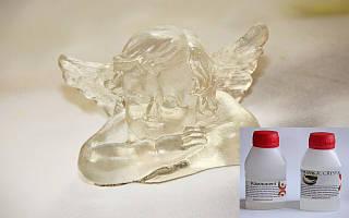 Прозрачная эпоксидная смола для декора, украшений MagicCrystal для небольших заливок (для смешивания и заливки до 100 мл).