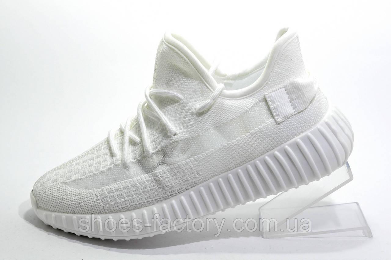 Женские кроссовки Baas Yeezy Boost, White\Белые