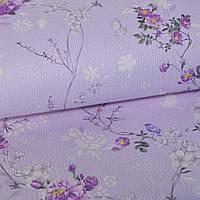 Обои для стен шпалери дуплексні на паперовій основі полоса фіолетові рельєфні 0,53х10м