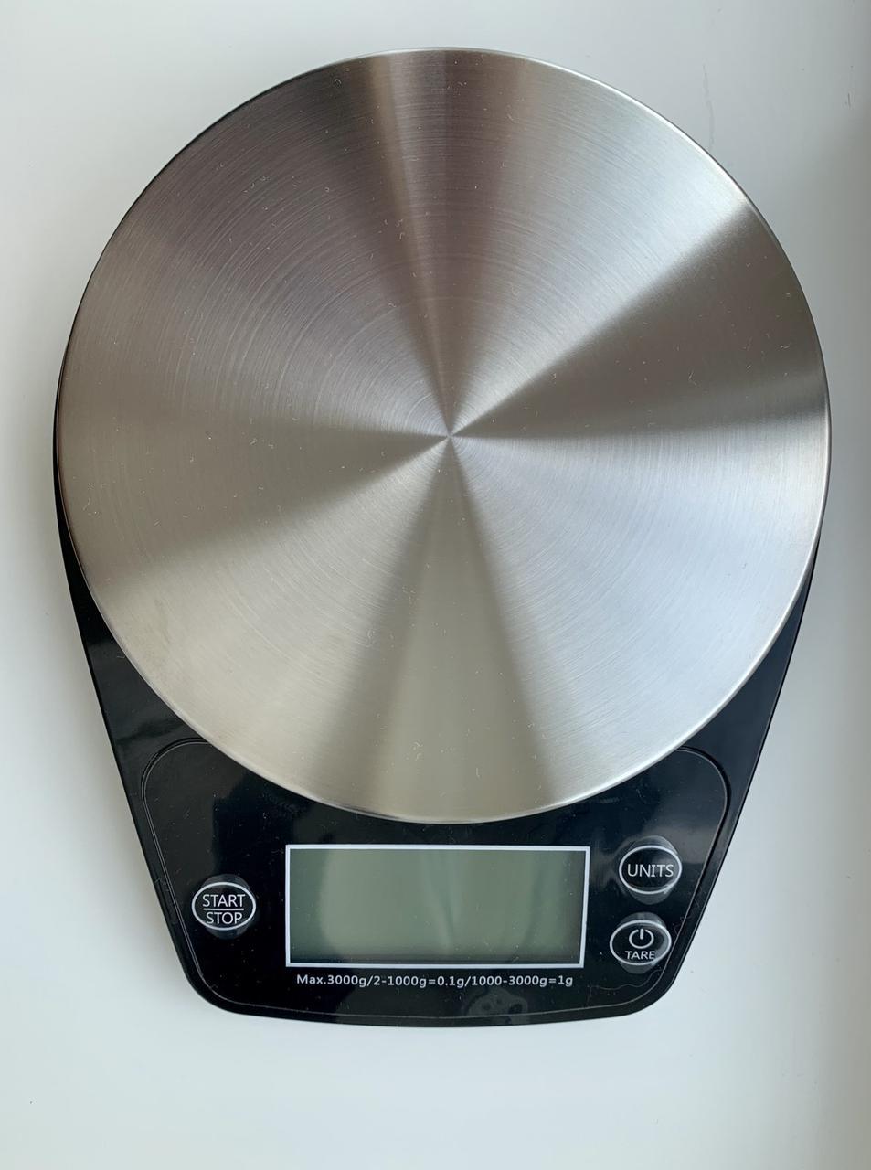 Весы для кофе и чая W.Balance до 3 кг, с таймером и металлической взвешивающей поверхностью