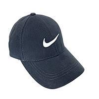 Кепка бейсболка Nike стильная качественная мужская летняя серая нашивка белая по центру, фото 1