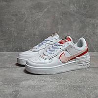 Кроссовки женские белые кожаные Nike Air Force 1
