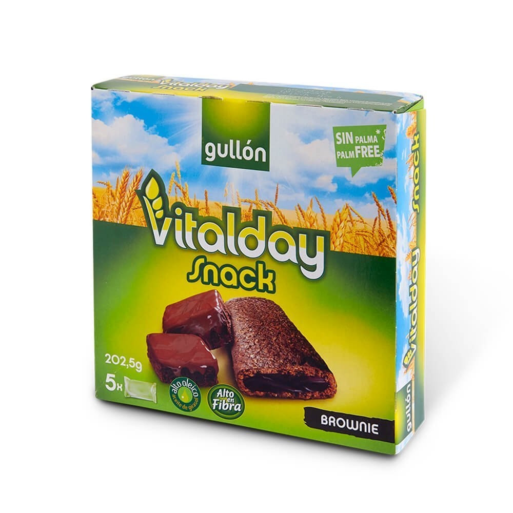 Печиво GULLON Vitalday Snack Brownie, 202.5 г