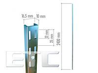 VR 6002 Профиль П-образный двойной 2400 хром.