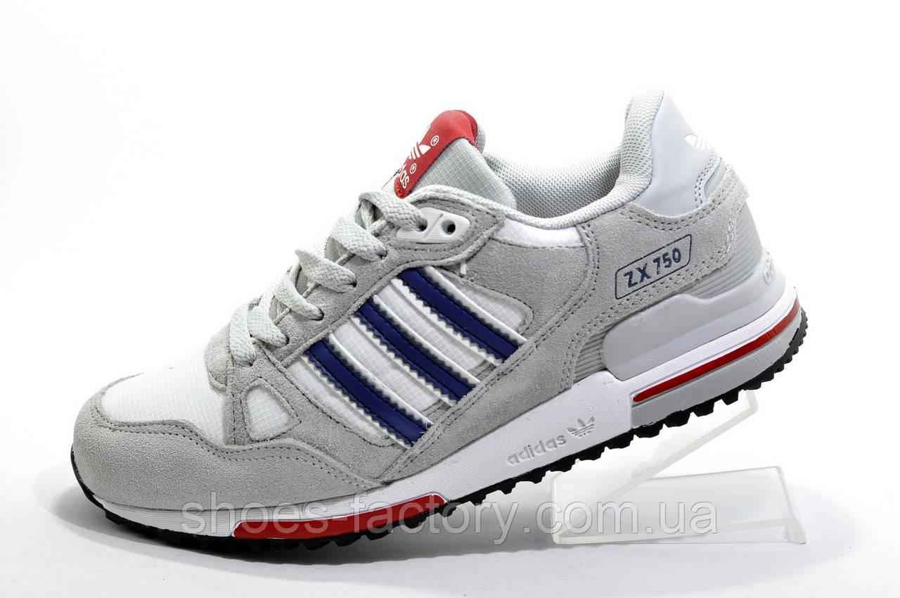 Кроссовки женские в стиле Adidas ZX 750, White\Gray
