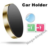 Мощный автомобильный магнитный держатель для телефона Mini Magnetic Phone Holder DF33 Golden, фото 1
