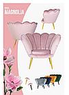Кресло Magnolia Velvet SIGNAL Bluvel 78 - зеленый/золото, фото 3